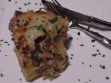 Waldpilz Lasagne mit Lachs - Rezept