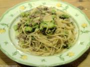 Spaghetti mit Brokkoli und Frischkäse-Sauce - Rezept