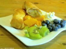 Gebackene Banane auf gemischten Früchten - Rezept