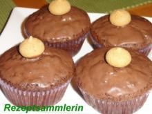 Muffin:   SCHOKO mit ARMARETTO-KIRSCHEN - Rezept