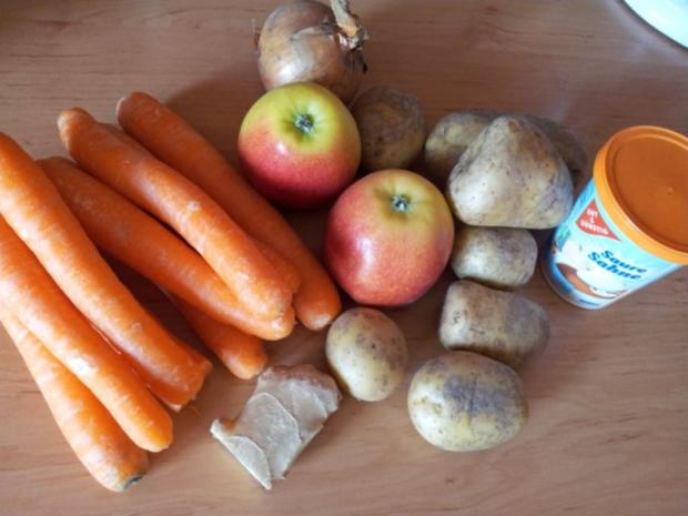 Karotten-Apfel-Ingwersuppe - Rezept - Bild Nr. 2