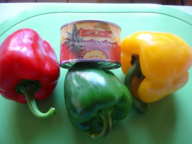 Fleischbällchen mit gemahlenen Mandeln und Gemüse süß-sauer - Rezept - Bild Nr. 3