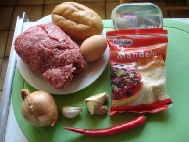 Fleischbällchen mit gemahlenen Mandeln und Gemüse süß-sauer - Rezept - Bild Nr. 2