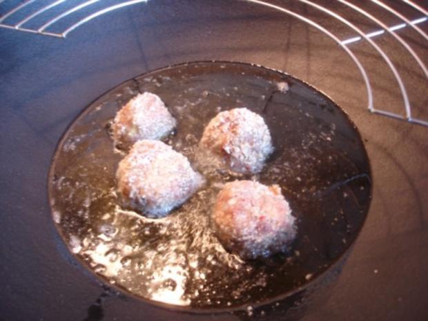 Fleischbällchen mit gemahlenen Mandeln und Gemüse süß-sauer - Rezept - Bild Nr. 11