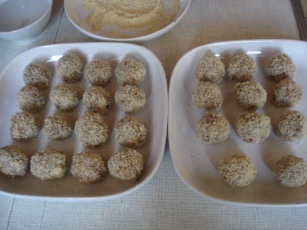 Fleischbällchen mit gemahlenen Mandeln und Gemüse süß-sauer - Rezept - Bild Nr. 10