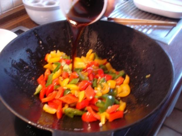 Fleischbällchen mit gemahlenen Mandeln und Gemüse süß-sauer - Rezept - Bild Nr. 23