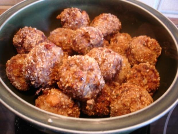 Fleischbällchen mit gemahlenen Mandeln und Gemüse süß-sauer - Rezept - Bild Nr. 15
