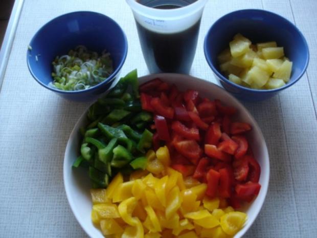 Fleischbällchen mit gemahlenen Mandeln und Gemüse süß-sauer - Rezept - Bild Nr. 20