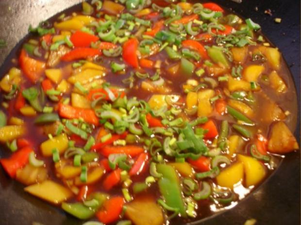 Fleischbällchen mit gemahlenen Mandeln und Gemüse süß-sauer - Rezept - Bild Nr. 27