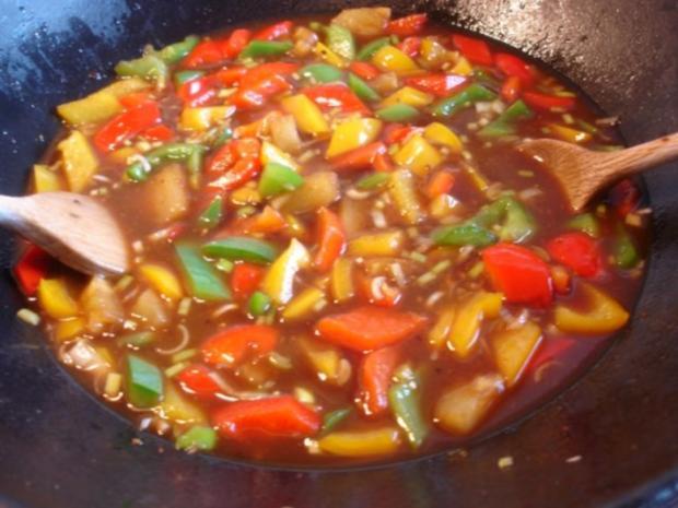 Fleischbällchen mit gemahlenen Mandeln und Gemüse süß-sauer - Rezept - Bild Nr. 26