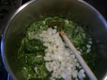 Bratkartoffeln + Spinat mit Spiegelei - Rezept