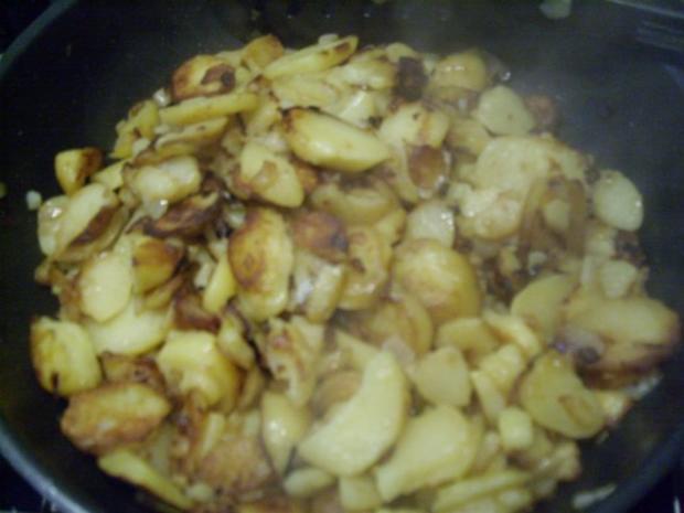 Bratkartoffeln + Spinat mit Spiegelei - Rezept - Bild Nr. 8