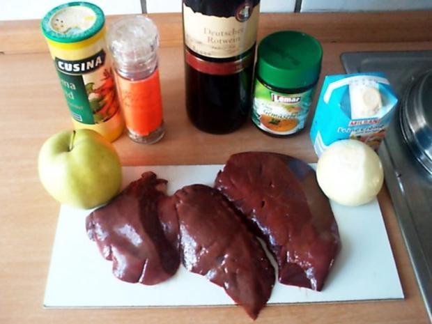 Apfel-Zwiebel Leber mit Kartoffelstampf - Rezept - Bild Nr. 2