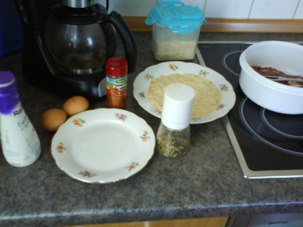 Süß saurer Kartoffelsalat mit Schnitzel Wiener Art - Rezept - Bild Nr. 7
