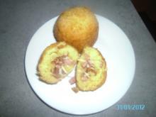 Panierte Kartoffelkugeln mit Schinken-Käse Füllung - Rezept