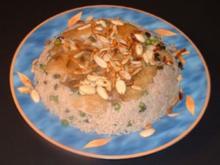 Rezept Maklouba - Hähnchen mit Nussreis - Rezept
