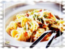 Linguini mit Knobi - Rezept
