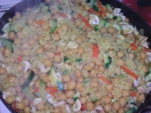 Reis mit Kichererbsen - Rezept