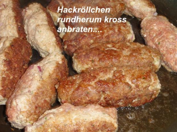 Fleisch:   HACKFLEISCH - RÖLLCHEN - Rezept - Bild Nr. 8