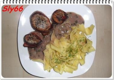 Fleischgerichte:Schweinemedaillons mit Speck Umwickelt - Rezept