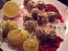 Schwedische Fleischbällchen / Köttbullar - Rezept
