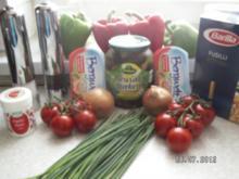 Nudelsalat einmal etwas schärfer - Rezept