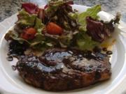 Steak mit scharfer Orangen-Soja-Sauce - Rezept
