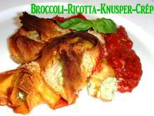 Broccoli-Ricotta - Knusper-Crépes - Rezept