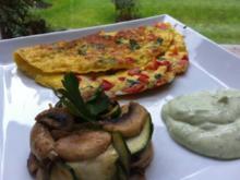 Gemüse-Omlett mit Kräuterquark - Rezept