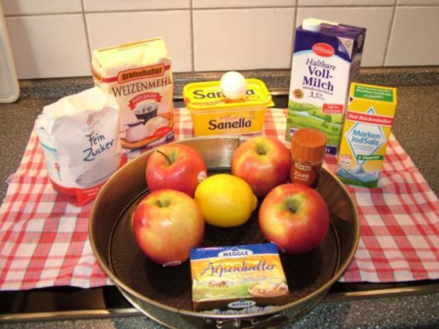 Schwäbischer Apfelkuchen mit Butter-Nuss Streussel - Rezept