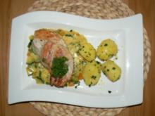 Putenzöpfchen an Kürbis-und Zucchinigemüse mit Petersilienkartoffeln - Rezept