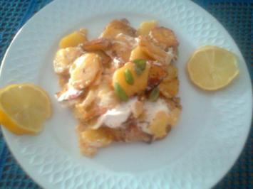 Rezept: Rohe Bratkartoffeln mit Ziegencamembert