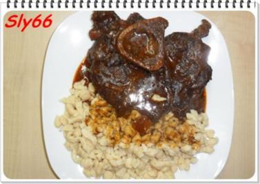 Fleischgerichte:Geschmorte Beinscheiben - Rezept