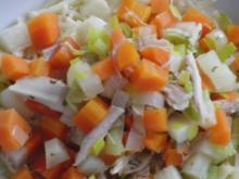 Suppe : Hühner-Eintopf mit Wintergemüse und Suppennudeln nach Wahl - Rezept