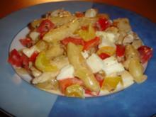 Schupfnudelpfanne mit Gemüse und Mozzarella - Rezept