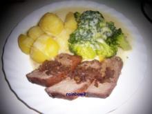 Kochen: Rinderbraten mit Rotwein-Zwiebel-Sauce - Rezept