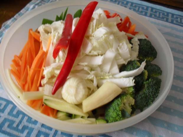 Rindfleisch scharf - aus dem Wok mit Gemüse - Rezept - Bild Nr. 5