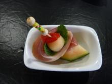 Fingerfood Melone Schinken - Rezept