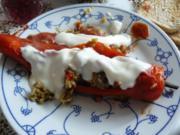 Gefüllte Paprikaschoten arabisch mit Joghurt - Rezept
