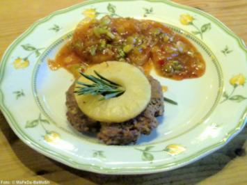 Feuriges Hacksteak mit Ananas - Rezept