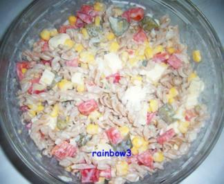 Salat: Bunter Nudelsalat II - Rezept