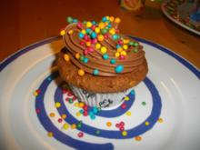 Apfel-Muffin mit Schokoladentopping - Rezept