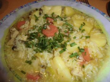 Mein Wintereintopf - Hühner-Reis Gemüse-Eintopf - Rezept