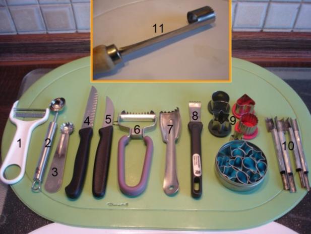 Schneiden, schaben, verzieren und garnieren - Rezept - Bild Nr. 2
