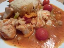 Fisch: Seelachs in Gemüsesoße - Rezept