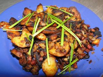 Beilage:    Meine knusprigen Bratkartoffeln so wie bei Muttern, bei mir noch mit Ingwer - Rezept