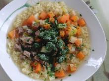 Suppe : Rinder-Eintopf für  H i t z e f r e i   im Winter, mit wunderbaren Gemüse - Rezept
