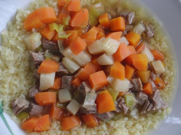Suppe : Rinder-Eintopf für  H i t z e f r e i   im Winter, mit wunderbaren Gemüse - Rezept - Bild Nr. 2