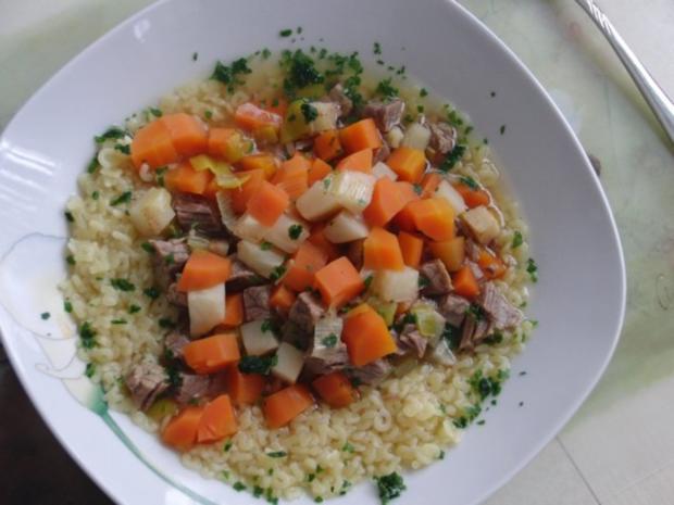 Suppe : Rinder-Eintopf für  H i t z e f r e i   im Winter, mit wunderbaren Gemüse - Rezept - Bild Nr. 3