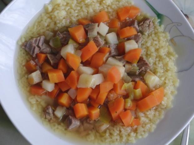 Suppe : Rinder-Eintopf für  H i t z e f r e i   im Winter, mit wunderbaren Gemüse - Rezept - Bild Nr. 4